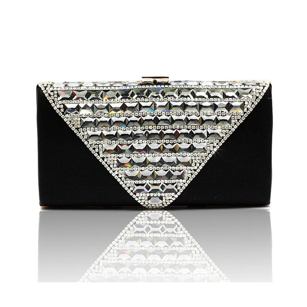 Clutches - Handtaschen Abend Beutel Silber und weiße Kristall  - Onlineshop Blue Pearls