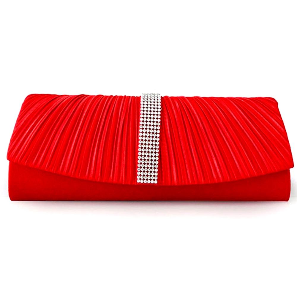 Clutches - Handtasche Abend Roten Beutel Kristall weiß  - Onlineshop Blue Pearls