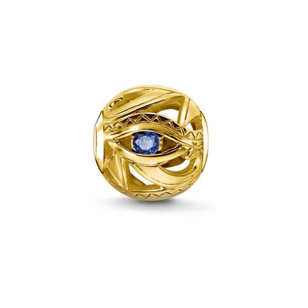 Armbaender für Frauen - Bead Charms Golden und Blauen Kristall  - Onlineshop Blue Pearls