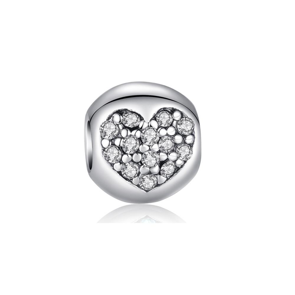 Armbaender für Frauen - Weissen Herz Kristall Charms Beads  - Onlineshop Blue Pearls