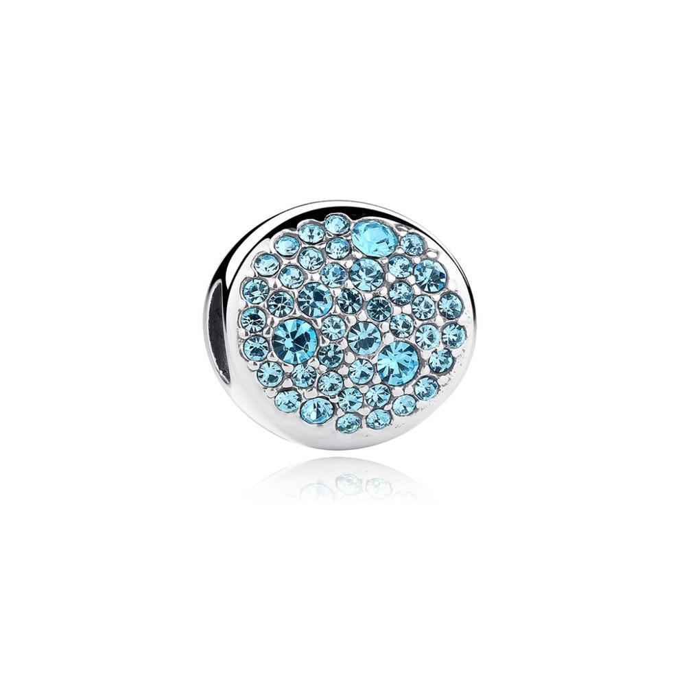 Armbaender für Frauen - Blau Kristall Charms Beads und 925 Silber  - Onlineshop Blue Pearls