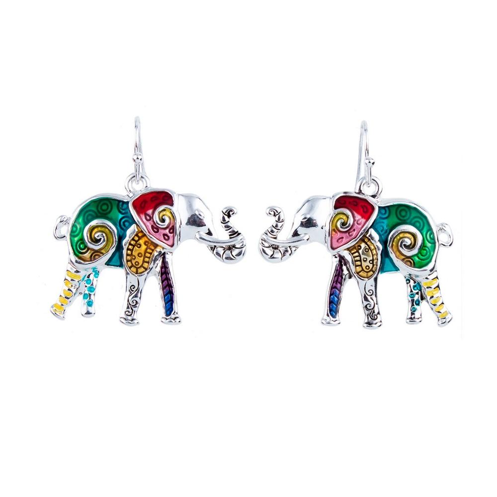 Ohrringe - Ohrringe Elefant Mehrfarben  - Onlineshop Blue Pearls