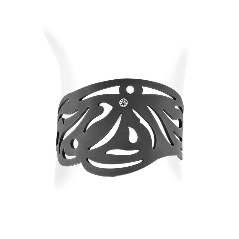 Armbaender für Frauen - Stammes Armband Schwarz Silikon Gum Effekt Tattoo  - Onlineshop Blue Pearls