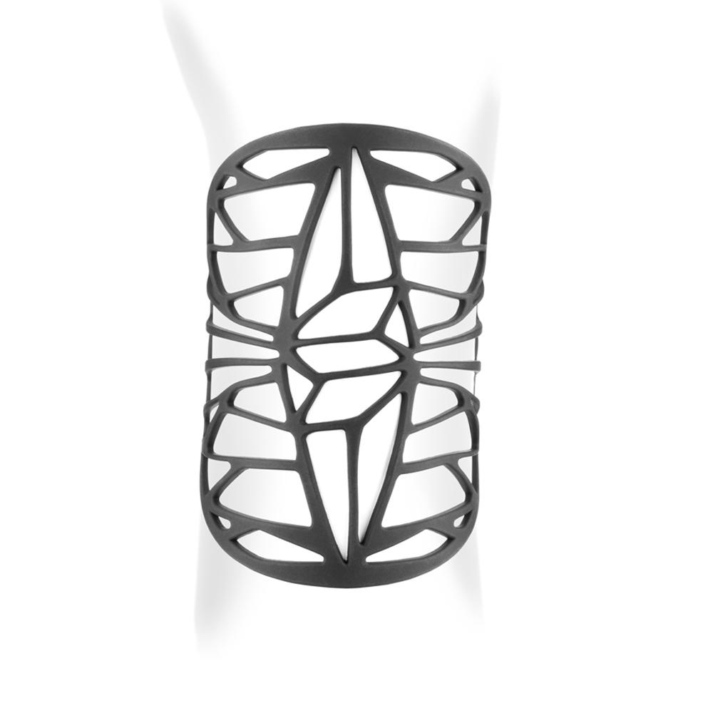Armbaender für Frauen - Design Stulpe Armband Schwarz Silikon Gum Effekt Tattoo  - Onlineshop Blue Pearls