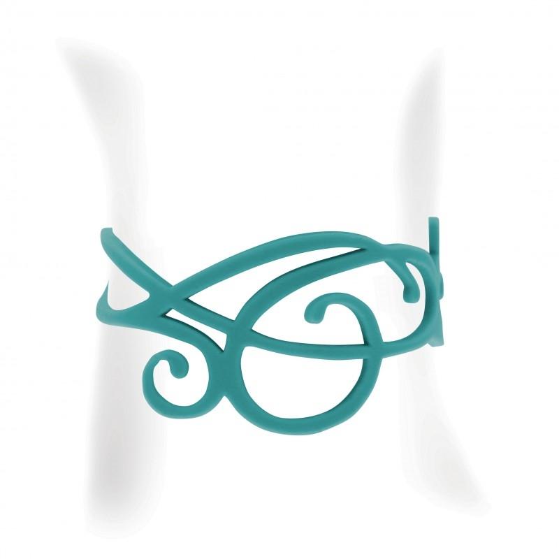 Armbaender für Frauen - Welle Armband Schwarz Silikon Gum Effekt Tattoo  - Onlineshop Blue Pearls