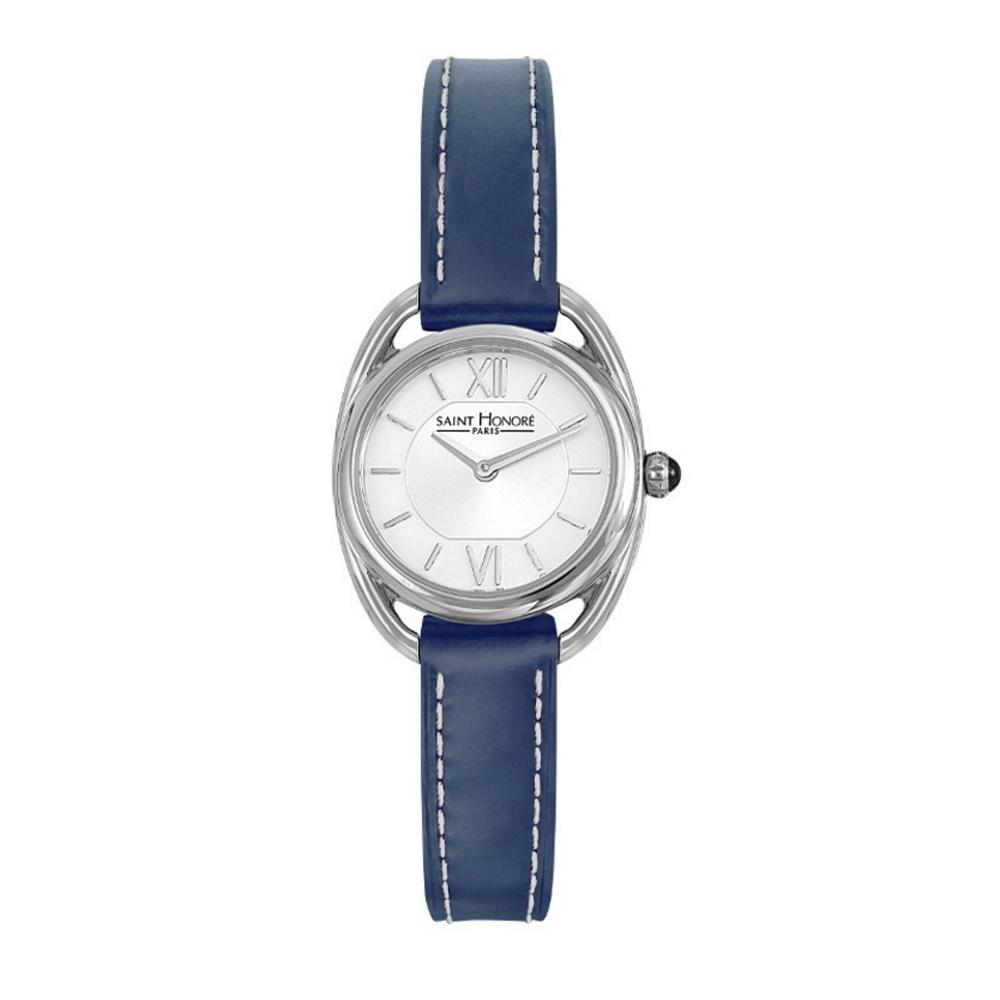 montre charisma twist saint honor et bracelet en cuir bleu montres blue pearls. Black Bedroom Furniture Sets. Home Design Ideas