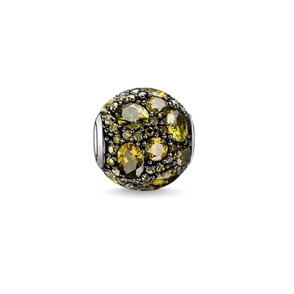 Armbaender für Frauen - Grauen Kristall Charms Beads  - Onlineshop Blue Pearls