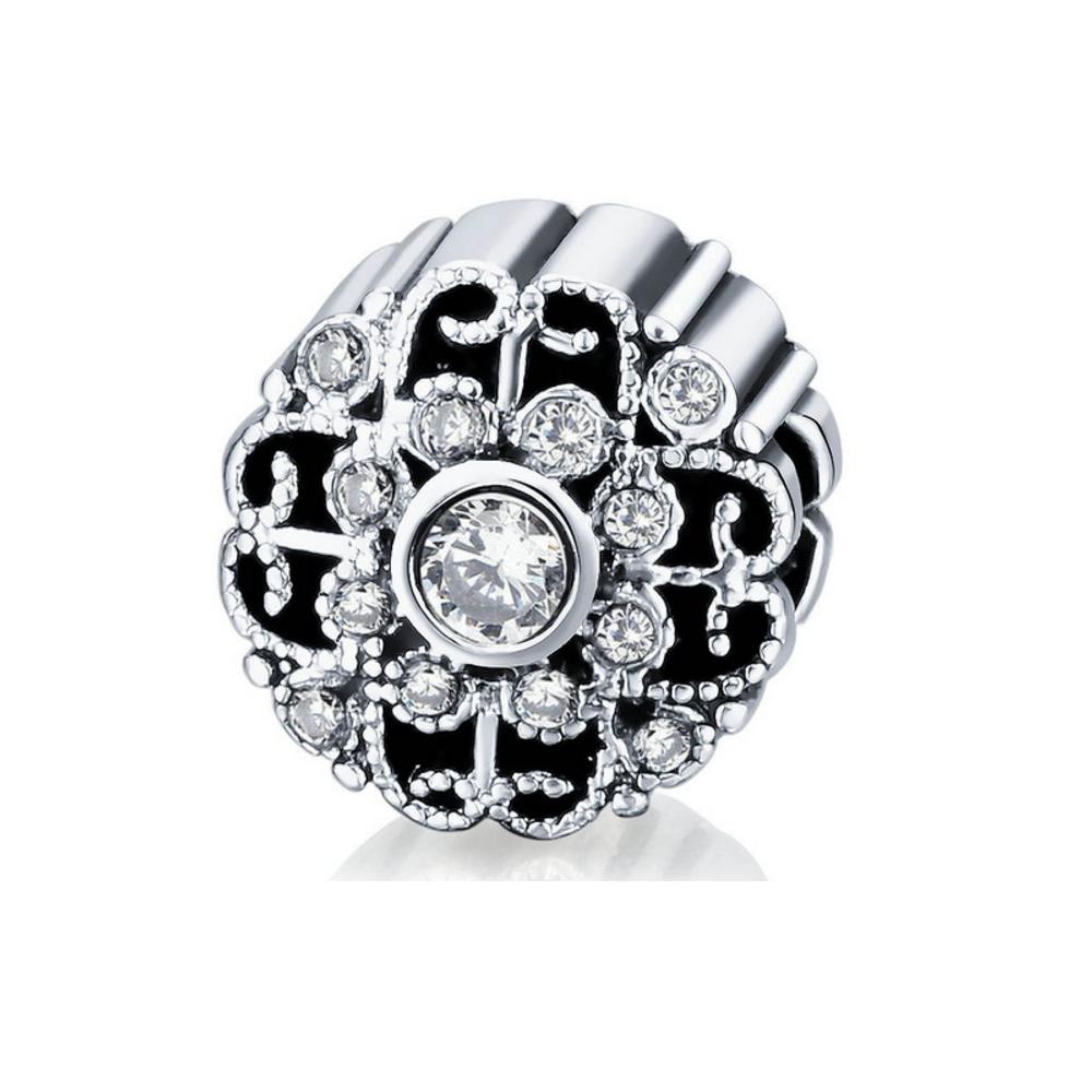 Armbaender für Frauen - Weissem Kristall Charms Beads  - Onlineshop Blue Pearls