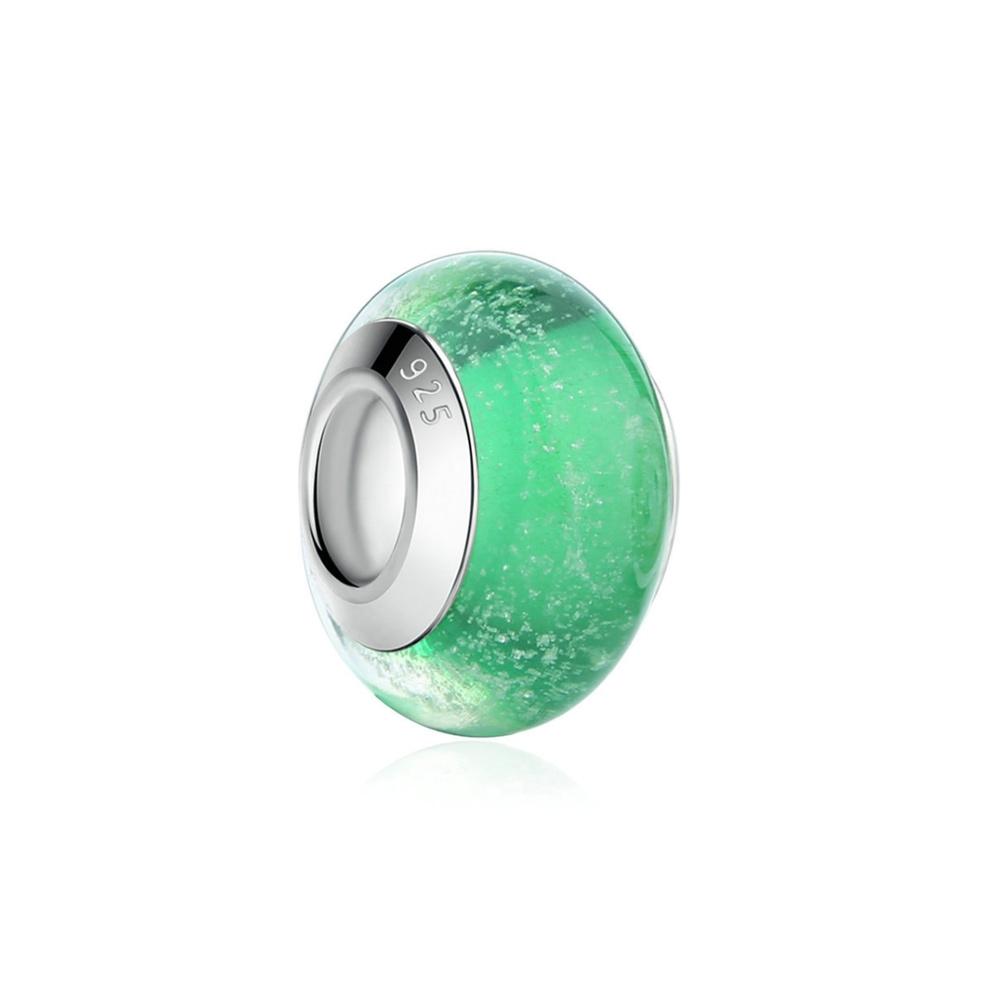 Armbaender für Frauen - Grauen Muranoglas Charms Bead  - Onlineshop Blue Pearls