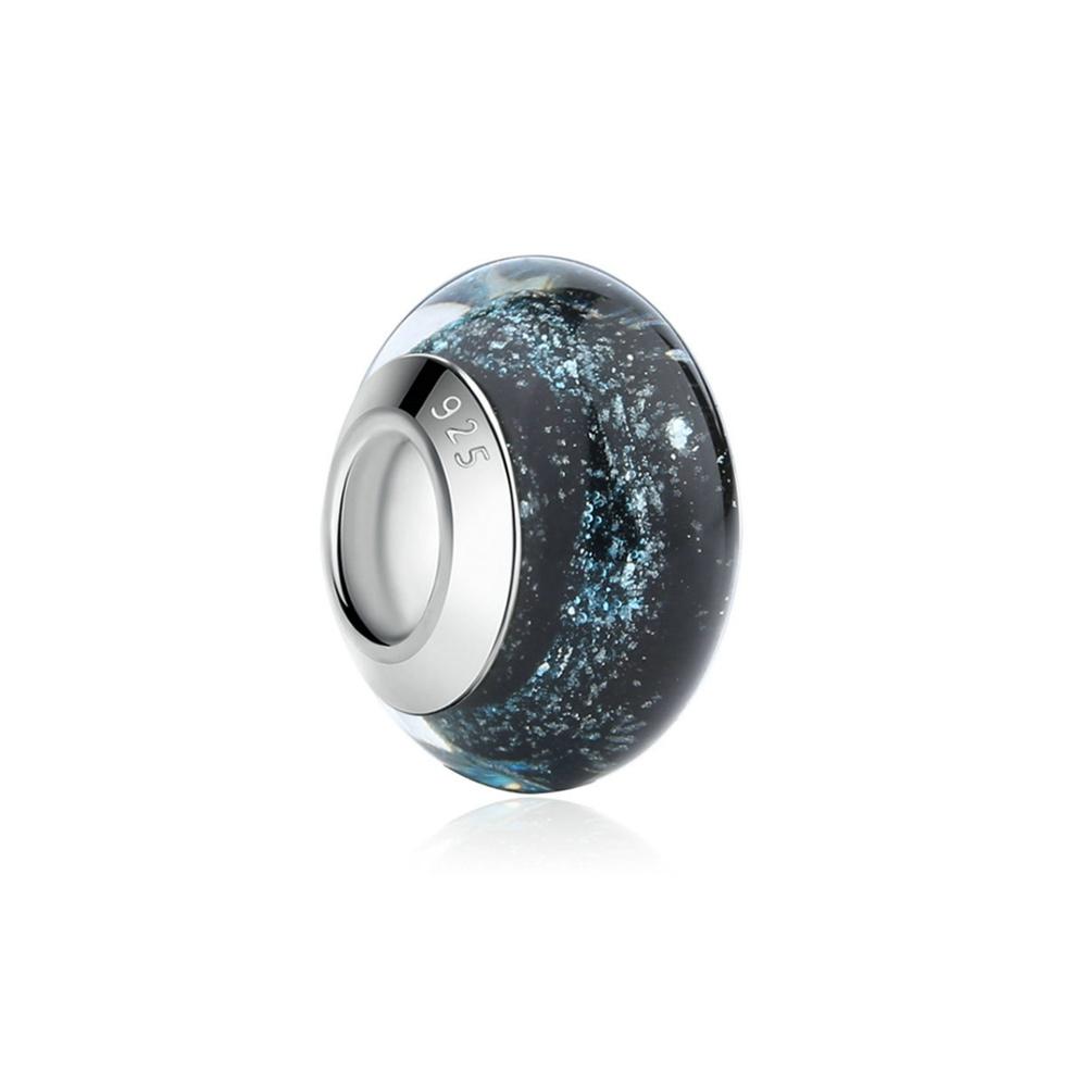 Armbaender für Frauen - Schwarzen Muranoglas Charms Bead  - Onlineshop Blue Pearls