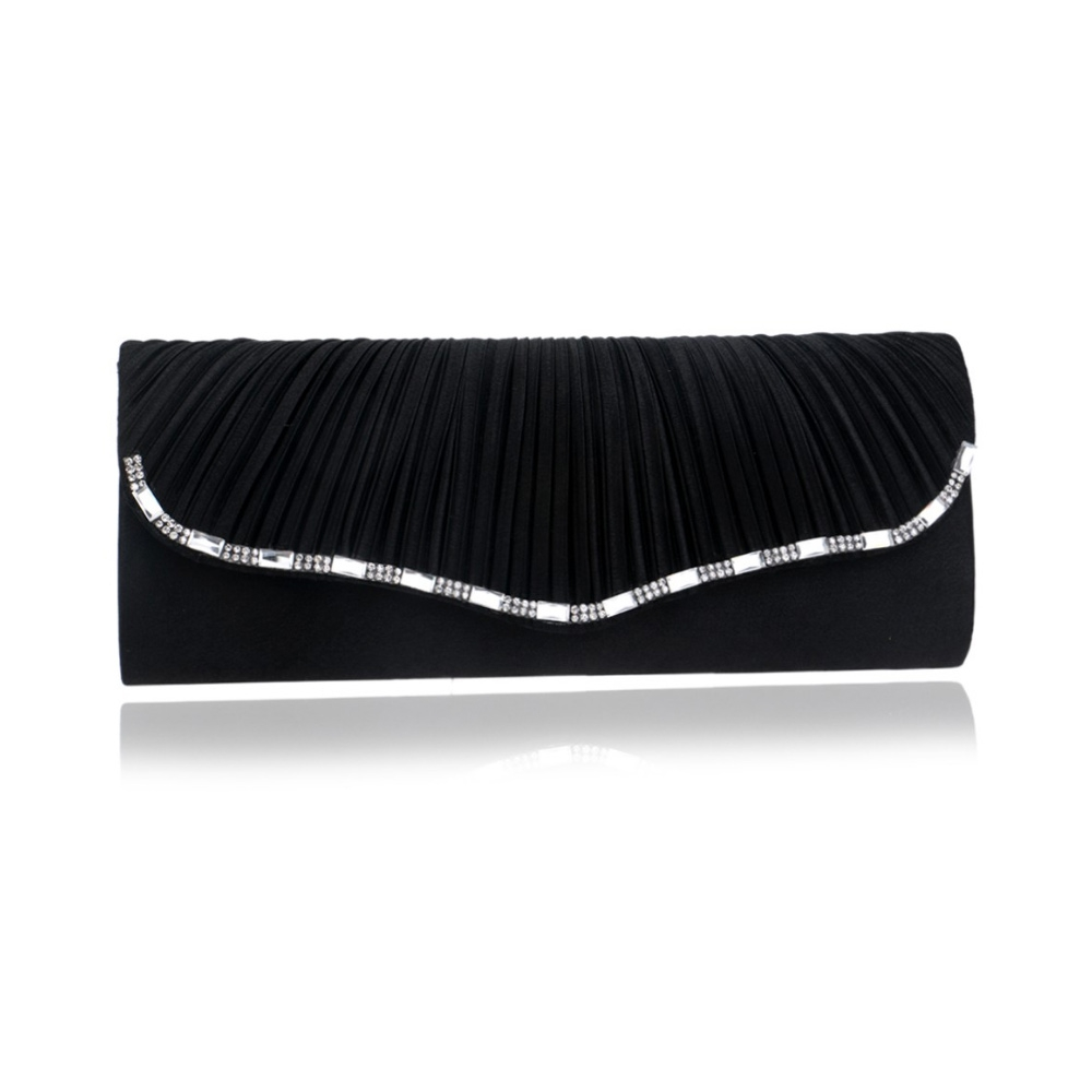 Clutches - Handtasche Abend Schwarzen Beutel Kristall weiß  - Onlineshop Blue Pearls