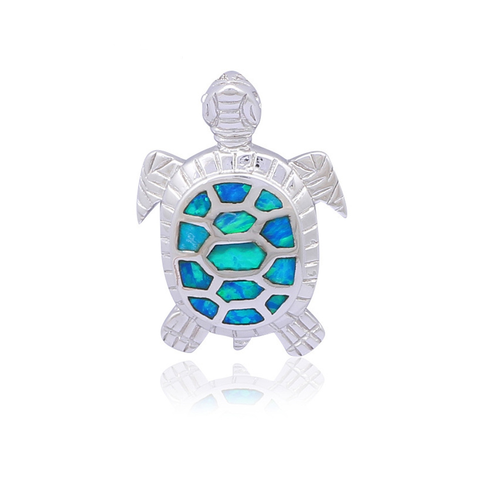 opal-turtle-pendant-and-silver-plated