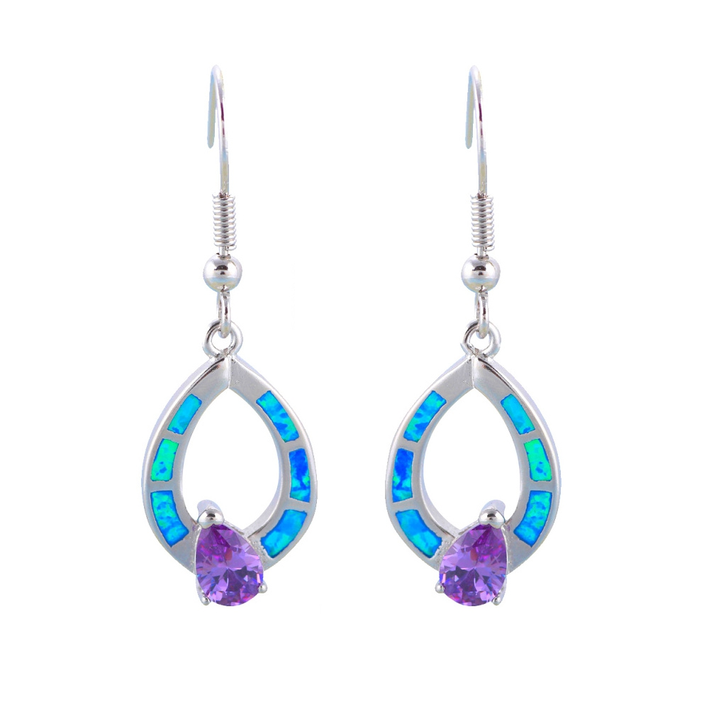 opal-dangling-earrings-and-silver-plated-and-purple-crystal