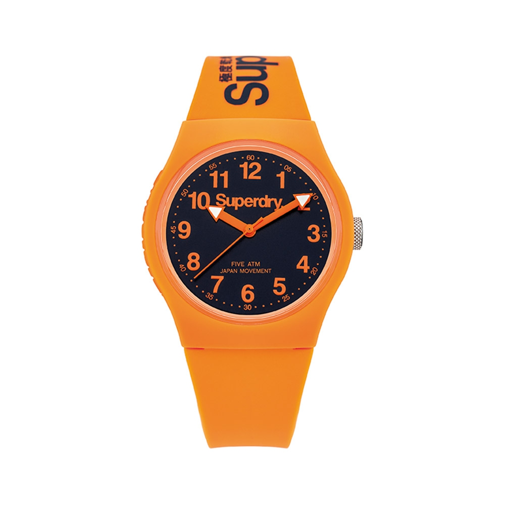 Uhr Superdry Urban Silikon Armband Orange | 7107