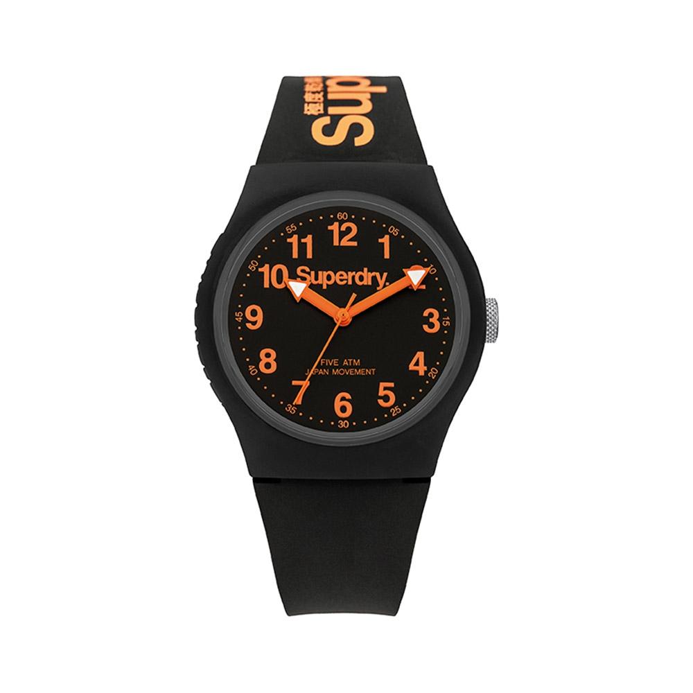 Uhren für Frauen - Uhr Superdry Urban Silikon Armband Schwarz  - Onlineshop Blue Pearls