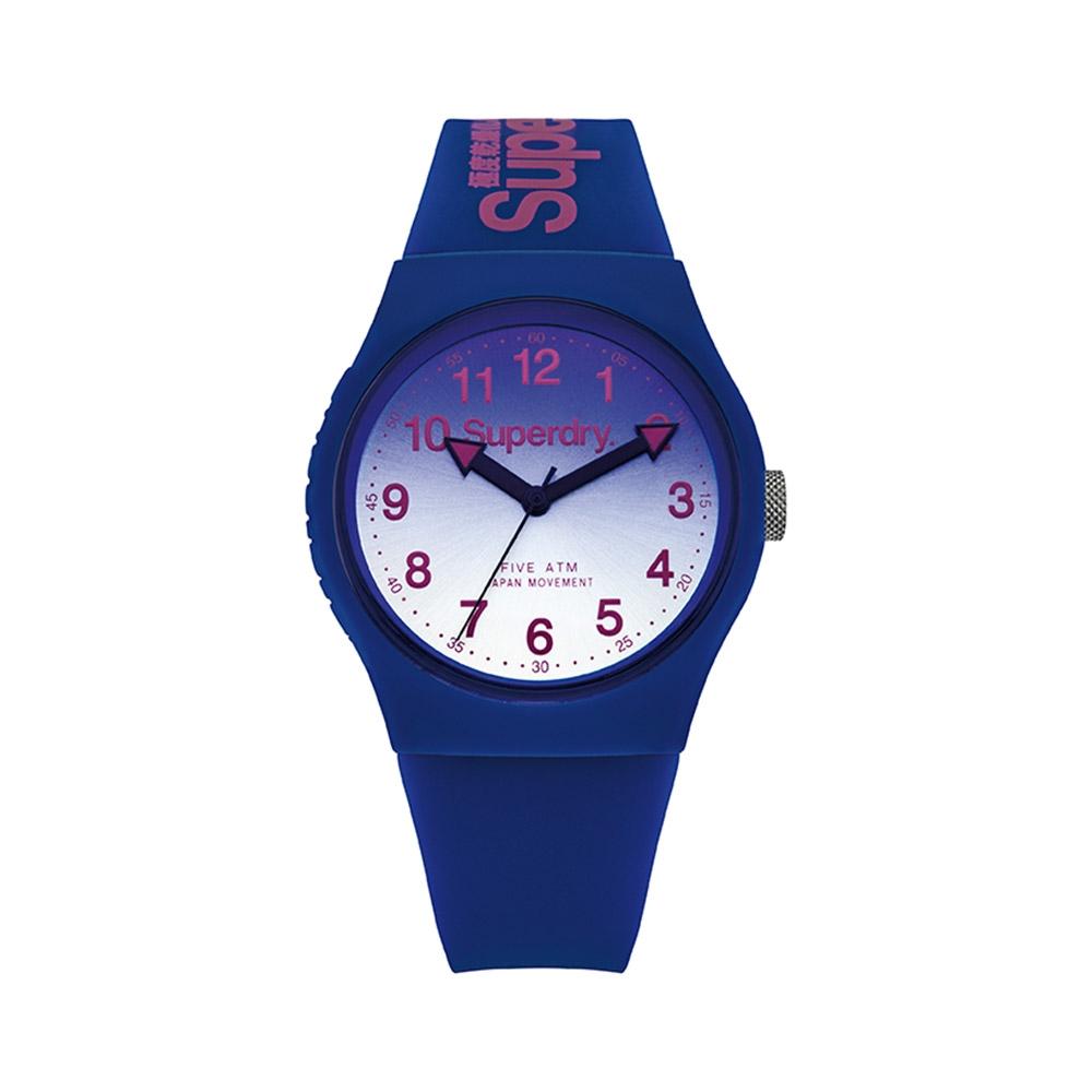 Uhr Superdry Urban Silikon Armband Blau und Rosa | 7110