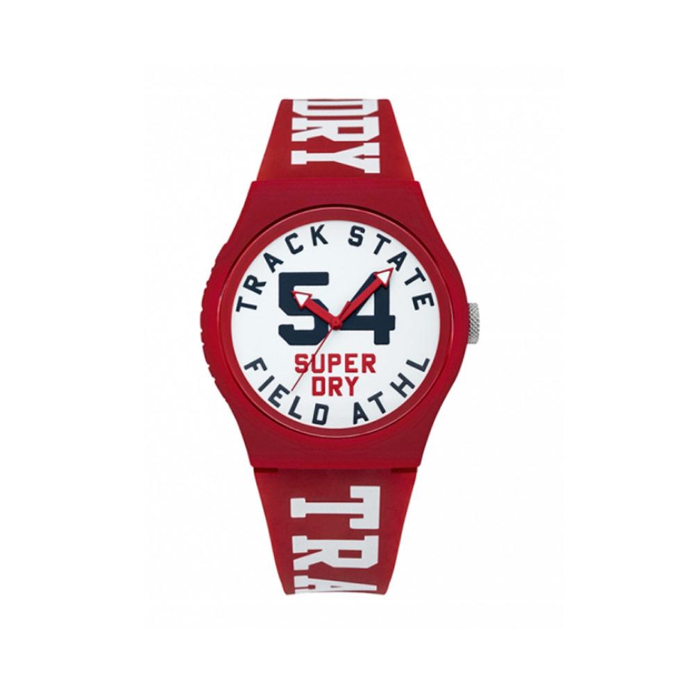 Uhr Superdry Urban Weissen und Roten Silikon Armband | 7284