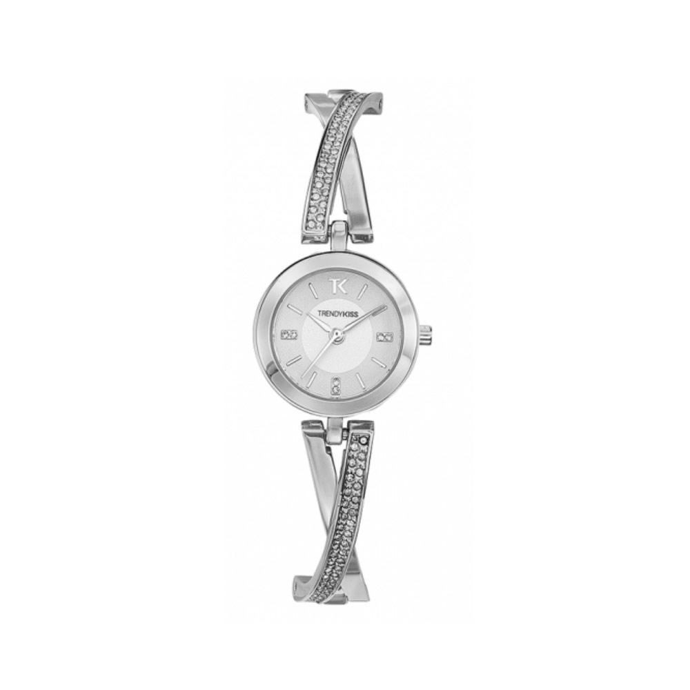 Damenuhr Trendy Kiss Flore, Stahlarmband Silber | 7335