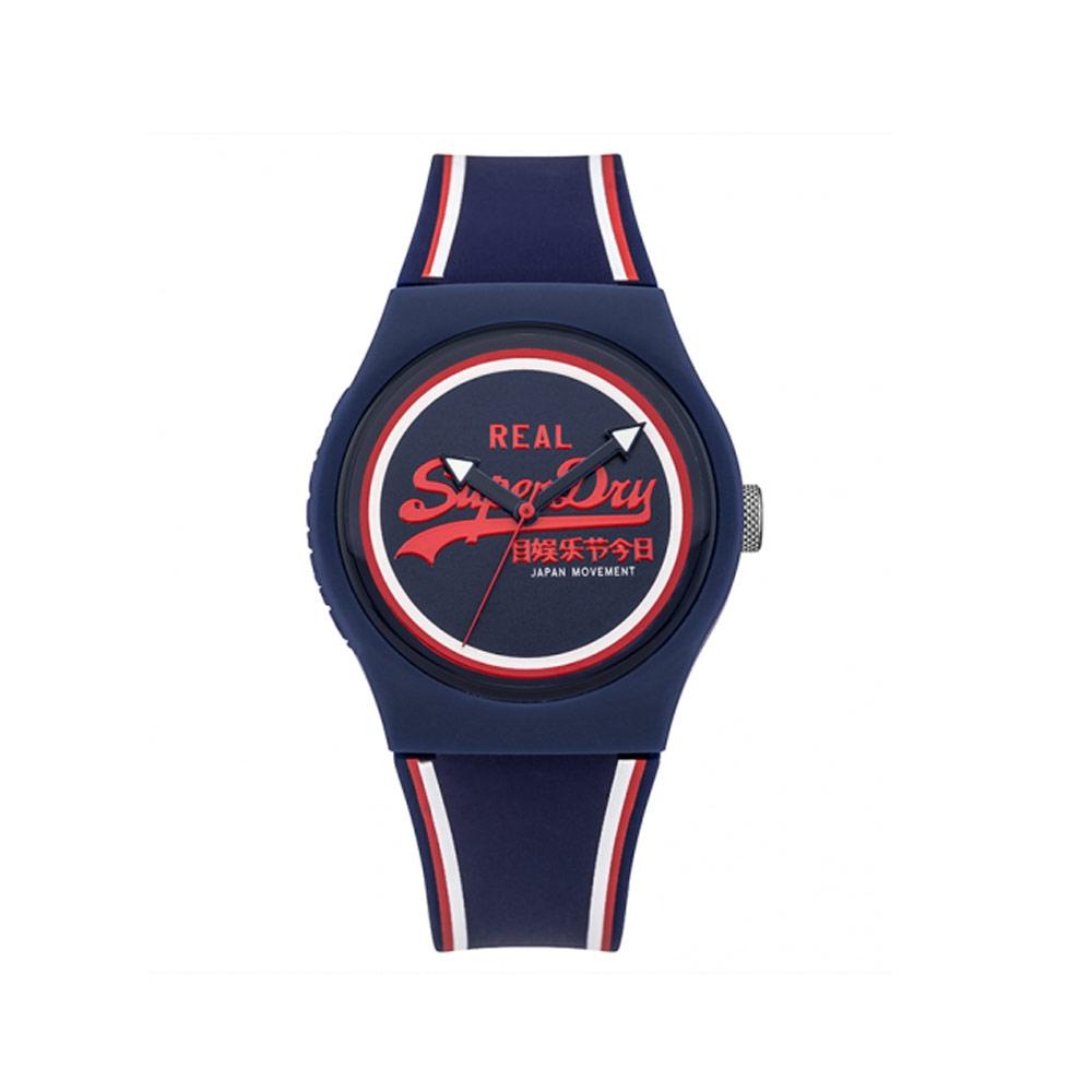 Uhr Superdry Urban Silikon Armband Blau | 7344