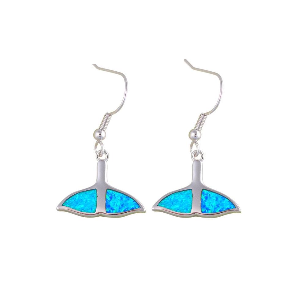 Ohrringe - Ohrringe Walschwanz Blau Opal und Silber überzogen  - Onlineshop Blue Pearls