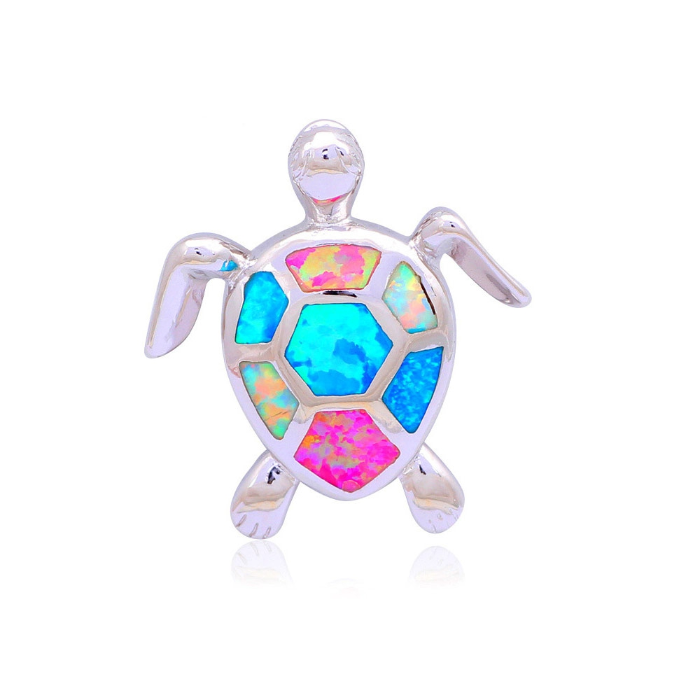 multicolor-opal-turtle-women-pendant-and-silver-plated