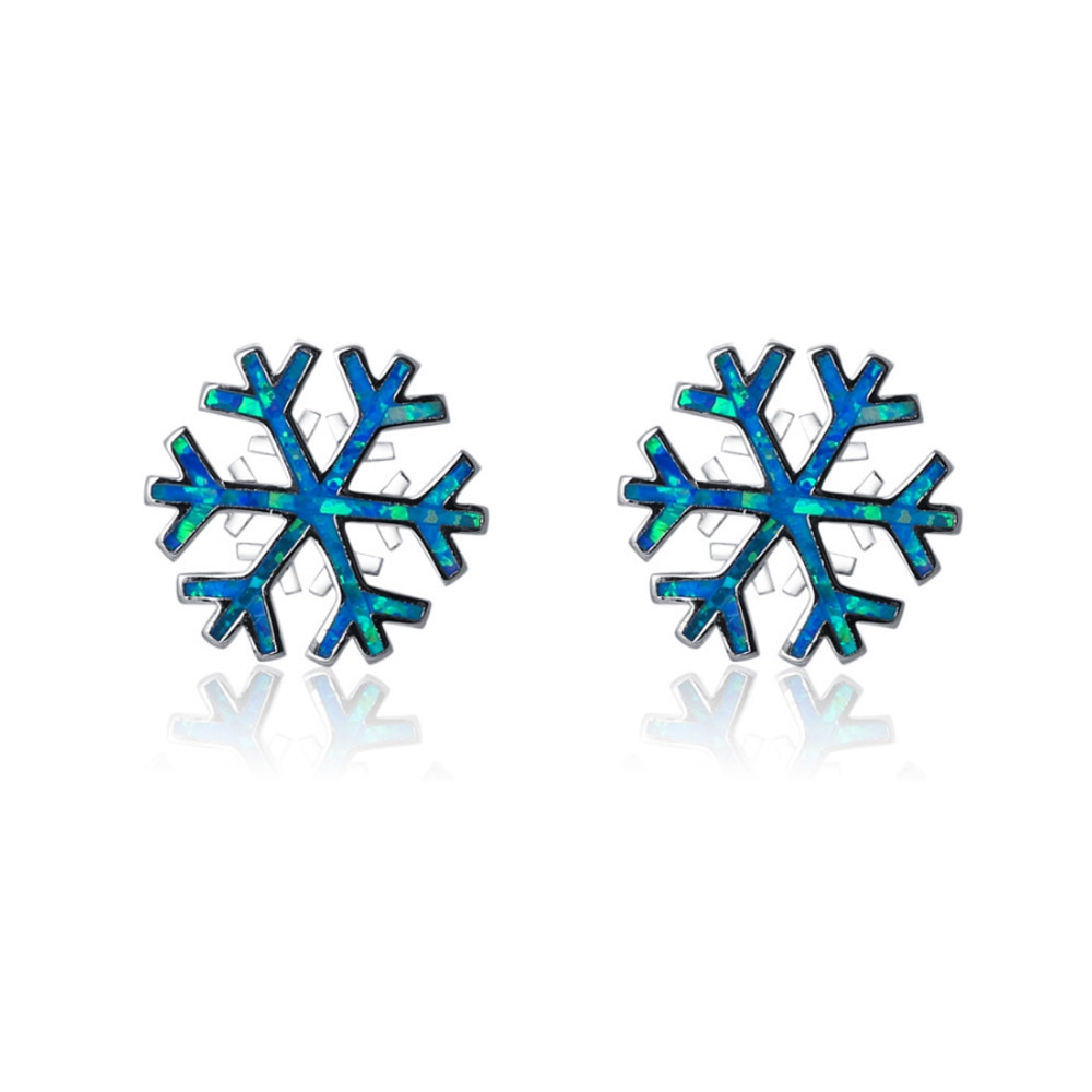 blue-opal-snowflake-women-earrings-and-silver-plated