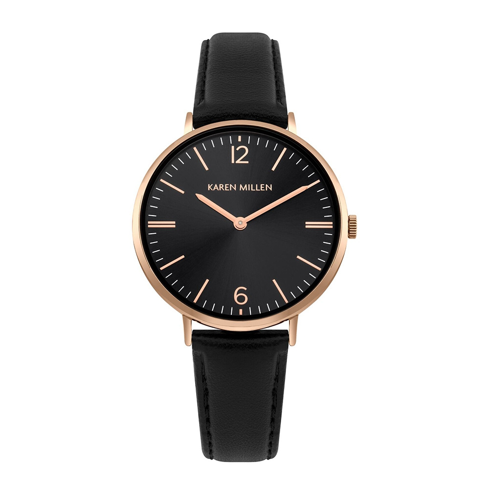 watch-women-black-leather