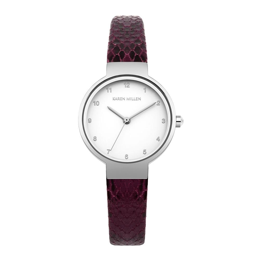 Uhren - Uhr Frau Braun Leder Schlangenleder  - Onlineshop Blue Pearls