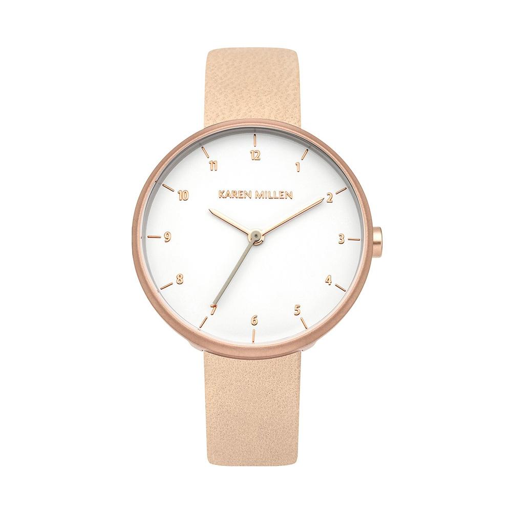 Uhren - Uhr Frau Rosa Leder Trench  - Onlineshop Blue Pearls