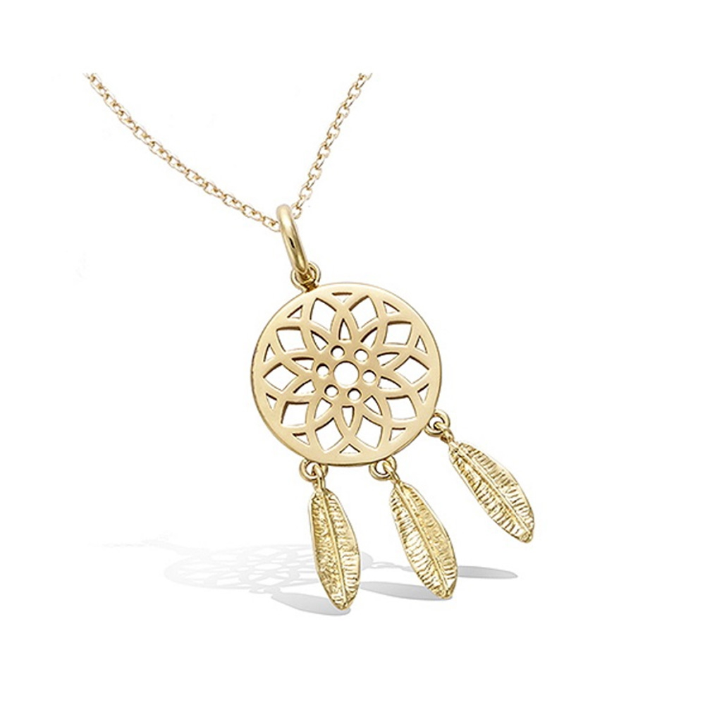 yellow-gold-plated-women-dream-catcher-pendant