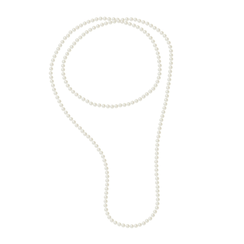 120 cm White Freshwater Cultured Pearls Women Long Necklace