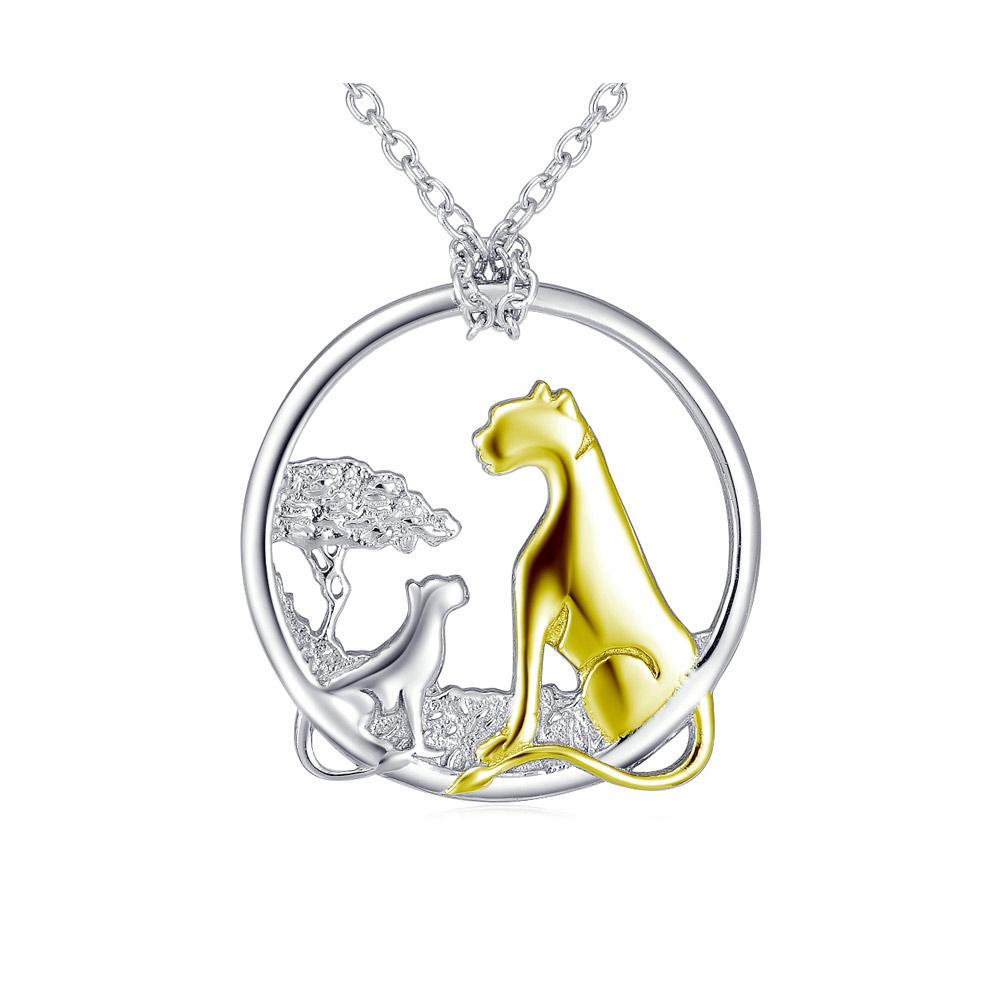Ketten für Frauen - Halsketten Anhänger 925 1000 Silber Cheetahs  - Onlineshop Blue Pearls
