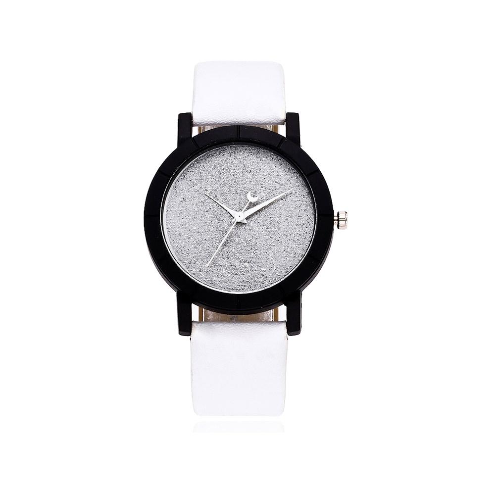 Uhren für Frauen - Pailletten Fancy Uhr und Weissen Armband  - Onlineshop Blue Pearls