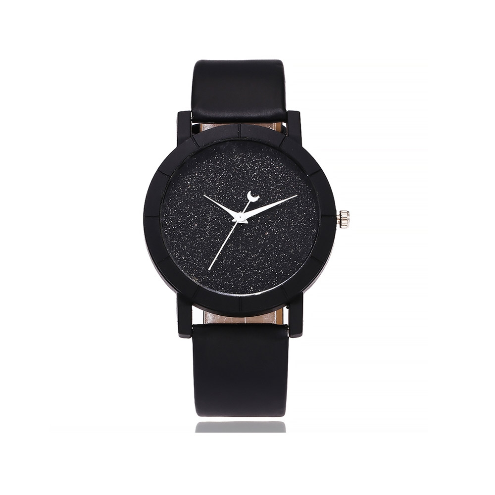 Uhren für Frauen - Pailletten Fancy Uhr und Schwarzen Armband  - Onlineshop Blue Pearls