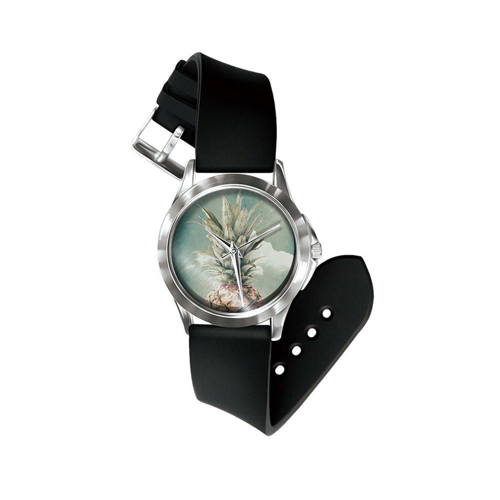Uhren für Frauen - Phantasie Ananas Uhr und Silikon Armband  - Onlineshop Blue Pearls