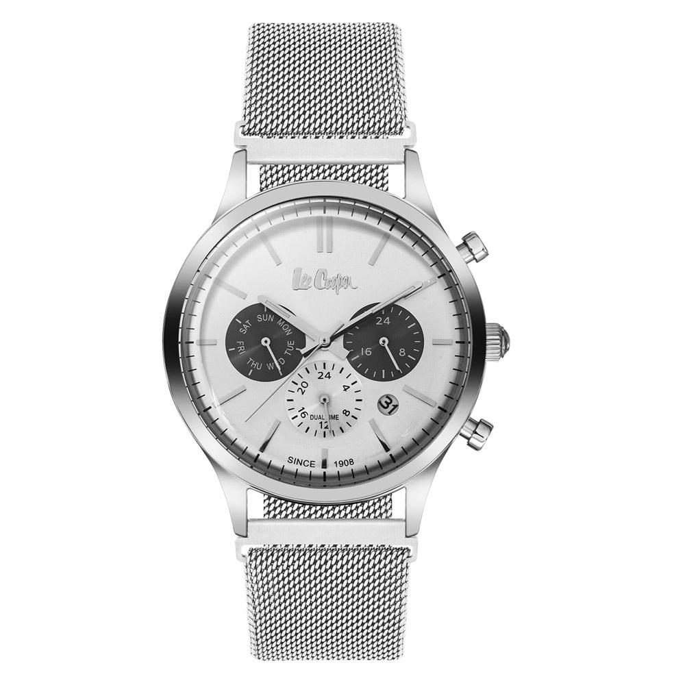 868e7ecfb375 Reloj Lee Cooper para Hombre en metal de malla milanesa plata - Relojes - Blue  Pearls