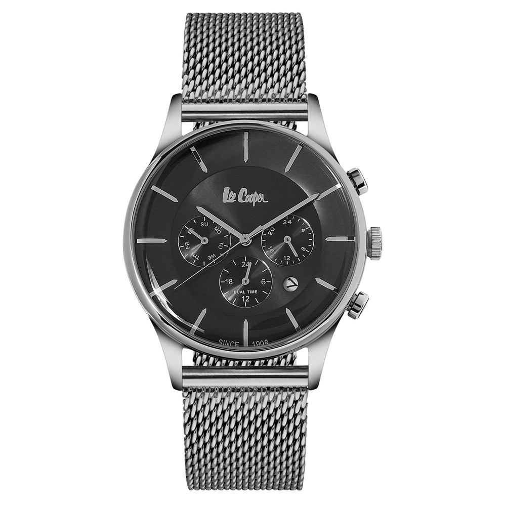 Uhren - Lee Cooper Herrenuhr und Silber Milanese Mesh Armband  - Onlineshop Blue Pearls