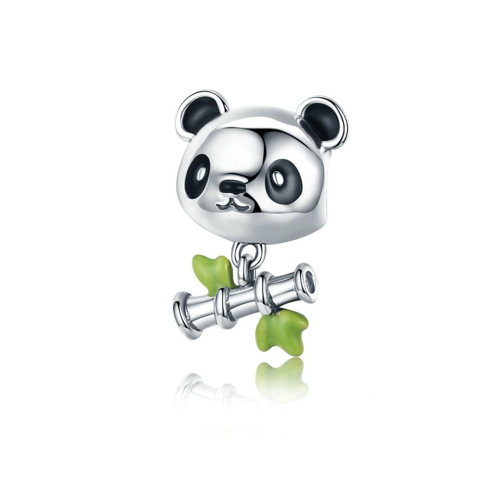 Armbaender für Frauen - 925 Sterling Silber Panda und Bambus Charms Bead  - Onlineshop Blue Pearls