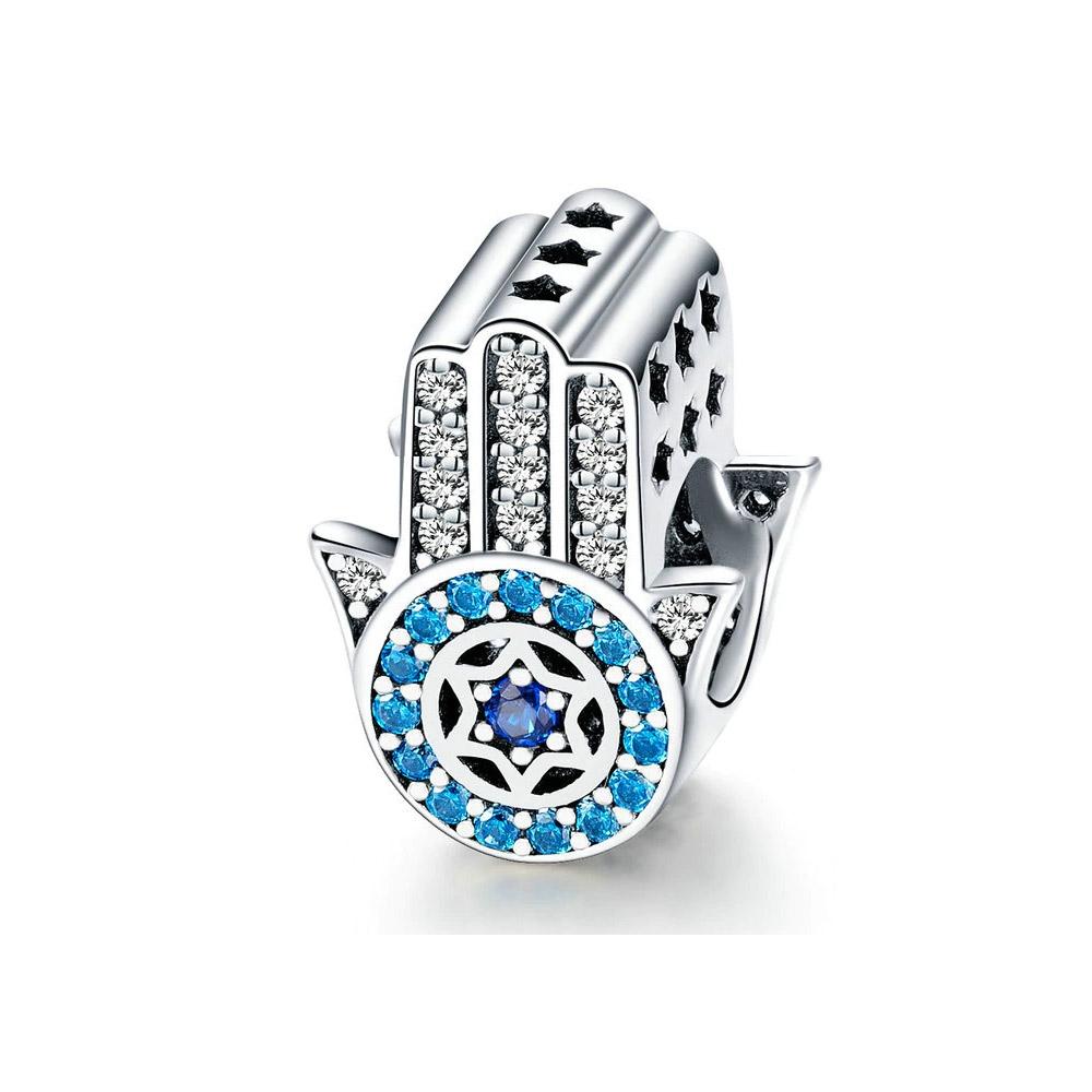 Armbaender für Frauen - Hand von Fatima Bead Charms in Silber 925 1000  - Onlineshop Blue Pearls